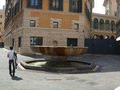 Fountain on Via degli Staderari, near Piazza S Eustachio. The basin is coming from the Terme of Nero