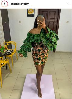 African Fashion Ankara, African Inspired Fashion, Latest African Fashion Dresses, African Print Fashion, Ankara Dress Designs, Ankara Dress Styles, Ankara Skirt And Blouse, Blouse Styles, Short African Dresses