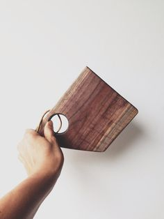 Black walnut cutting serving board To-Go mini wood board leather strap Foodie gift Travels gift Camping essentials on Etsy, $20.00