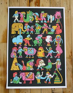 pow eat print by Andy Rementer, via Flickr