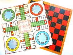 Vintage Gameboards Checkers Pachisi by lizandjaybooksnmore on Etsy