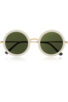4dea695cb7cb The Row - Round-frame acetate and metal sunglasses