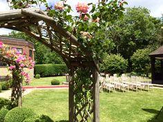 outdoor wedding ceremony - gazebo - chiavari chairs - sussex weddings - wedding venue - summer - deans place hotel