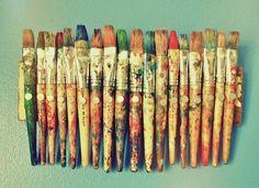 old paintbrushes = magic wands