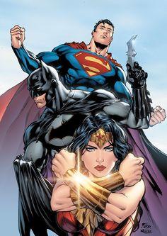 Batman, Superman, Wonder Woman  color by xXNightblade08Xx