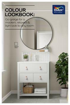 Dulux Paint Colours For Bedroom, Dulux Paint Colours Neutral, Dulux Grey Paint, Grey Beige Paint, Best Greige Paint Color, Best Bathroom Paint Colors, Best Gray Paint, Paint Colors For Home
