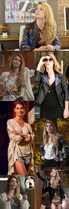Os Looks de Diana (Alinne Moraes) na novela Rock Story são inspirados na musa Kate Moss. Tendência rock glam cool, estou apaixonada por todos os #ootd da linda.  Tem muita calça skinny, mini saias, t-shirts, jaquetas de couro e blazers poderosos. #lokkdodia #rockstory #rockglam #punkglam #katemoss #alinnemoraes #dujour