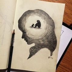 Light in the head more pencil sketching, easy pencil drawings, pencil sketch art, Easy Pencil Drawings, Pencil Sketch Drawing, Sad Drawings, Dark Art Drawings, Art Drawings Sketches Simple, Sketch Art, Pencil Drawing Tutorials, Best Drawing, Sketches To Draw