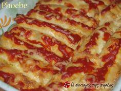 Κρέπες με κιμά στο φούρνο Waffles, Pancakes, Greek Recipes, Sweet Bread, Crepes, Starters, Lasagna, Food And Drink, Appetizers