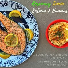 "We're ""Pretty Happy"" About These Recipe! - #KateHudson of @fabletics & movie fame inspired @thefoodpervert & I to make some delicious #salmon & #hummus for our latest BOOK TO PLATE video!"