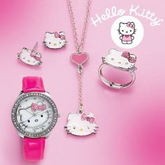 Hello Kitty! Everyone's favourite feline is back at Avon with this adorable jewellery collection. Choose from this Sparkling Watch, Stud Earrings, Necklace or Adjustable Ring. Hello Kitty's iconic style is sure to be a hit with all ages. Which piece is your favourite? To order these  Go to http:www.avon.ca and register, add Brigitte Giunta has your Avon Representative. If you wish to become an Avon Rep please email me at b_giunta@hotmail.com
