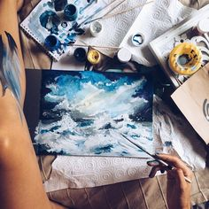 Image about photography in artsy✎ by mia x on We Heart It Painting Inspiration, Art Inspo, Illusion Kunst, Art Aquarelle, Guache, Art Hoe, Foto Art, Painting & Drawing, Amazing Art