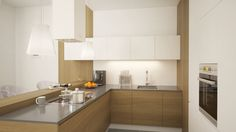 Nowoczesna kuchnia z okapem Toredo White marki GLOBALO. Więcej produktów oraz źródło: www.globalo.pl