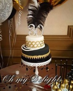 A great gatsby themed birthday cake this weekend! #ohmydelights #greatgatsby #roaring20s
