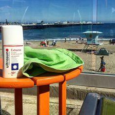 Santa Cruz CA: Thanks @ultrasunUK for the long lasting sun protection for our California trip! #visitcalifornia #beach #california #ad by amodernmother