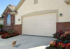 Haas Model 2480 Garage Door in Almond