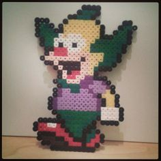 Krusty The Simpsons hama perler beads by lutranero