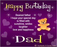 Jimmy awel gmieawel on pinterest all wishes message wishes card greeting card birthday greetings card for father birthday wishe m4hsunfo