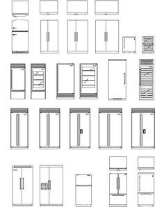 Kitchen Appliance CAD Symbols  #Glass Pinned by www.modlar.com