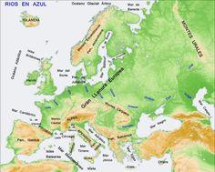 mapa mudo fisico europa imprimir  Buscar con Google  Ciencias