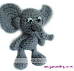 Elephant Free crochet Pattern by Amigurumi To Go (sharon ojala)
