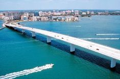 Sarasota Florida... Water everywhere...love this bridge coming  from the airport..bliss, heaven, peace