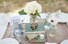 DIY Wedding Centerpieces Rustic Vintage | JUSTIN + LIZ | RUSTIC TEXAS RANCH WEDDING | Lindsey Joy Photography ...