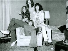Led Zeppelin photographed by James Fortune at the Continental Riot House, 1973.