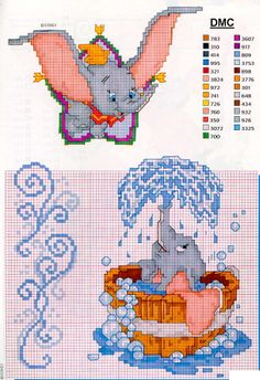 Thrilling Designing Your Own Cross Stitch Embroidery Patterns Ideas. Exhilarating Designing Your Own Cross Stitch Embroidery Patterns Ideas. Cross Stitch Fairy, Cross Stitch Kits, Cross Stitch Charts, Cross Stitch Designs, Disney Cross Stitch Patterns, Counted Cross Stitch Patterns, Cross Stitch Embroidery, Disney Stitch, Elefante Dumbo