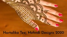 Take a look at some of the trendiest & best hartalika teej mehndi designs 2020. These simple hartalika teej mehndi design inspirations would surely make you fall in love with them! Palm Henna Designs, Palm Mehndi Design, Back Hand Mehndi Designs, Unique Mehndi Designs, Mehndi Designs For Fingers, Beautiful Mehndi Design, Latest Mehndi Designs, Bridal Mehndi Designs, Mehandi Designs