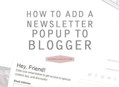 Adding a Newsletter Subscription Popup to Blogger