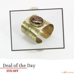 Today Only! 15% OFF this item.  Follow us on Pinterest to be the first to see our exciting Daily Deals. Today's Product: Golden brass, etched cuff bracelet with bronzite stone, gift Buy now: https://www.etsy.com/listing/208443276?utm_source=Pinterest&utm_medium=Orangetwig_Marketing&utm_campaign=Daily%20Deal   #etsy #etsyseller #etsyshop #etsylove #etsyfinds #etsygifts #handmade #etsyjewelry #etsysellers #etsyfinds #musthave #loveit #instacool #shop #shopping #onlineshopping #instashop…