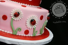 """Fun Birthday Cakes for Moms   ... first birthday, we gave her a """"smash"""" cake to match the party cake"""