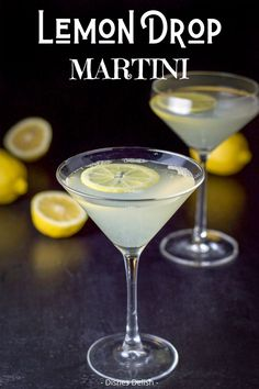 I love this lemon drop martini because it is slightly sour and oh so lemony, which makes it a refreshing and satisfying cocktail to have in your repertoire. Lemon Drop Cocktail, Lemon Drop Martini, Cocktail And Mocktail, Fun Cocktails, Cocktail Recipes, Dinner Recipes, Drinks Alcohol Recipes, Yummy Drinks, Drink Recipes