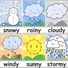 Preschool Weather Chart, Weather Kindergarten, Preschool Charts, Teaching Weather, Kindergarten Learning, Preschool Learning Activities, Preschool Classroom, Preschool Activities, Teaching Kids