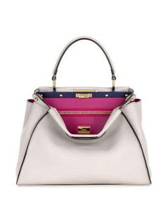 Peekaboo Medium Tote Bag, Nude Multi by Fendi at Neiman Marcus.