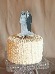Smaller version of the cutout idea- and would make a super cute cake topper!