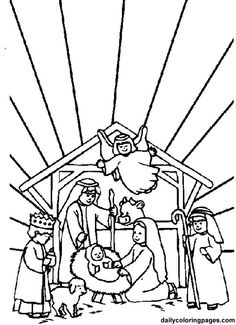 Printable christmas Jesus Is Born manger coloring pages - Printable ...