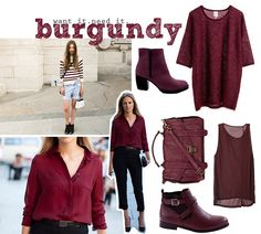Burgundy/oxblood: A hot color forecasted for this fall...Color and trend forecasting would be a top priority for me.