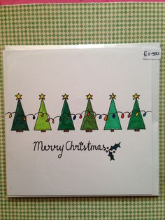 Weihnachtskarten basteln Christmas Trees in a Row Christmas Card :] How to choose contemporary Ratta Christmas Doodles, Christmas Card Crafts, Homemade Christmas Cards, Christmas Cards To Make, Christmas Mood, Xmas Cards, Christmas Greetings, Diy Cards, Homemade Cards