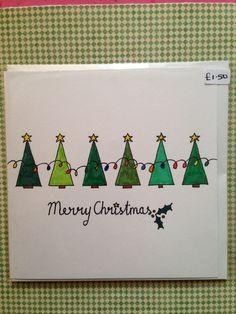 Weihnachtskarten basteln Christmas Trees in a Row Christmas Card :] How to choose contemporary Ratta Christmas Doodles, Christmas Card Crafts, Homemade Christmas Cards, Christmas Cards To Make, Xmas Cards, Christmas Greetings, Diy Cards, Homemade Cards, Handmade Christmas