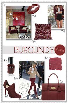 Fashionable Interiors: Burgundy: Fall 2012