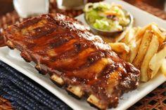 Pork Back Ribs, Barbecue Pork Ribs, Bbq Steak, Angus Burger, Bbq Catering, Slow Cooker Ribs, Smoked Ribs, Rib Recipes, Meat Recipes