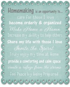 I find this so appropriate. I need to look at my home and job as an opportunity.