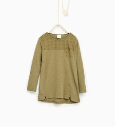 Image 1 of Embroidered basic top from Zara