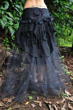 Nuno Felted Pagan Goddess Witches Triple Moon Long by frixiegirl Lace Silk, Silk Chiffon, Crescent Moon Symbol, Voodoo Costume, Samhain Ritual, Steampunk, Renaissance Fair Costume, Triple Moon, Eclectic Taste