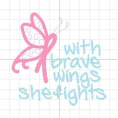 Breast Cancer Awareness Ribbon Butterfly Wings by PersonalLife