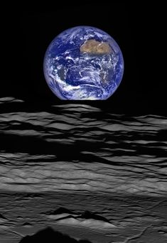 "Rise and Shine A composite image from NASA's Lunar Reconnaissance Orbiter shows the Earth rising over Compton crater on the moon's far side. The photo is reminiscent of the famous ""Earthrise"" image taken by Apollo 8 astronauts in 1968.  PHOTOGRAPH BY LUNAR RECONNAISSANCE ORBITER CAMERA SCIENCE TEAM/NASA EARTH OBSERVATORY"