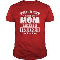 Best Crew Neck T Shirt -  Happy mother's day 2016- Trucker's Mom - Best Sale