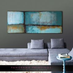 Abstract Art Panoramic me Acrylic Modern by PanoramaPaintings